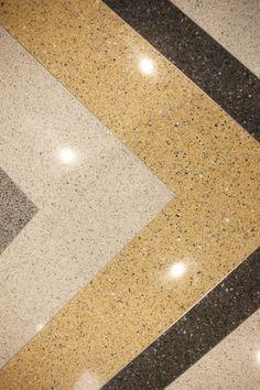 Spencer Elementary School   Epoxy terrazzo flooring installation #terrazzo #flooring #surfacedesign