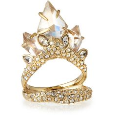 Alexis Bittar Marquise Cluster Cocktail Ring ($185) ❤ liked on Polyvore featuring jewelry, rings, gold, alexis bittar, white jewelry, cocktail rings, golden ring and pave cocktail ring