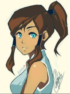 The Legend of Korra: cute lil picture of korra :)