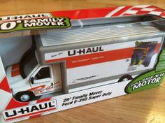 U-HAUL Toy Moving Truck 1:43 Ford E350 Indiana O Scale Lionel pullbackgo #Uhaul #Ford