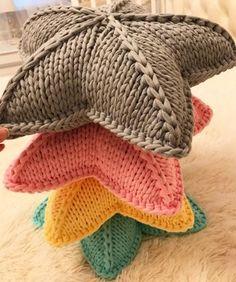 Estrellas tricot tejidas en trapillo