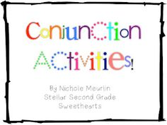 conjunctions activities - really free and look really helpful