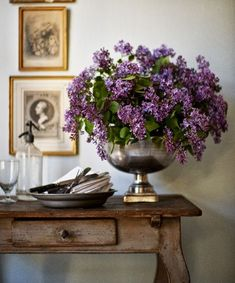 Lilacs  in Punch bowl Romancing the Home: The Punch Bowl- Saving It From Extinction