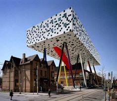 The Sharp Centre at the Ontario College of Art and Design in Toronto was designed by Will Alsop, known for his unusual buildings.