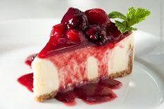 P. J. Clarkes (almoço)    Cheese cake com calda de frutas vermelhas