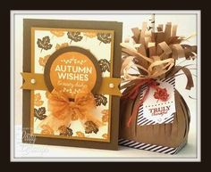 My Paper Pumpkin Alternative - Card & goodie bag! www.ladyandherstamps.blogspot.com