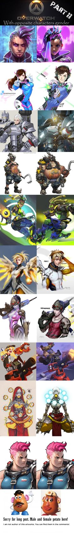 Overwatch characters in opposite gender! Part II