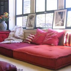 Floor cushions -- in a different color, of course