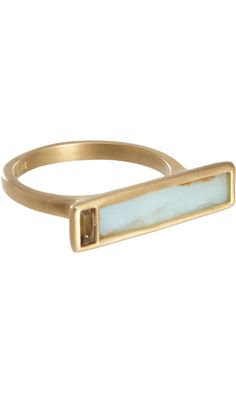 MONIQUE PÉAN Opal & Smoky Quartz Rectangular Ring