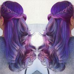 #longhiar #halloweenhairstyle #pastelhair #purplehair