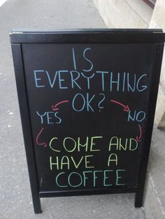 100 Of The Funniest Bar & Cafe Chalkboard Signs Ever Starbucks Crafts, Starbucks Art, Coffee Box, Coffee Is Life, Coffee Truck, Coffee Quotes, Coffee Humor, Restaurant Signs Funny, Bakery Window Display