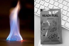 Ready Fuel burns at 1200 degrees and lasts 15-20 minutes, bringing water to a boil in 3-4 minutes, used primarily by the military.