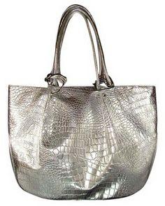 Silver Tote Handbag Fashion Cute Fashionista Bags Awesome Hot