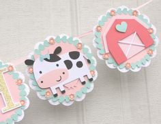 , farm animal by lizabitsdesigns on Etsy https://www.etsy.com/listing/237838506/farm-birthday-banner-farm-birthday-party