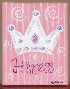 Princess Canvas On Pinterest Princess Crowns Little