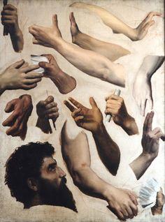 Hand studies by Bouguereau