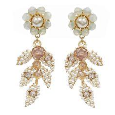 MIRIAM HASKELL | Leaf Drop Earrings