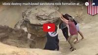 SCG VIRALS: Idiots destroy much-loved sandstone rock formation at Cape Kiwanda in Oregon- TomoNews