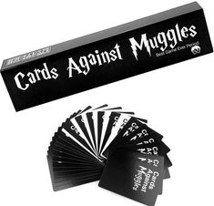 Harry Potter Cards Against Muggles 1440 Cards Buy Now Harry Potter Cards, Harry Potter Merchandise, Harry Potter Diy, Hp Products, Things To Buy, Stuff To Buy, Black Card, Birthday Wishes, Birthday Gifts