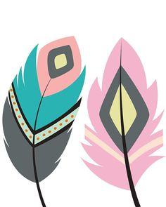 Are you decorating a tribal nursery, wildlife nursery, woodland nursery or animal nursery? This tribal nursery print will be a perfect (and adorable) addition! Tribal Feather, Feather Art, Tribal Prints, Art Prints, Motif Tropical, Tribal Animals, Tribal Nursery, Foto Poster, Nursery Prints