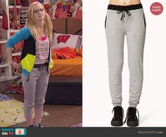Maddie's grey sweatpants on Liv and Maddie.  Outfit Details: http://wornontv.net/44229/ #LivandMaddie