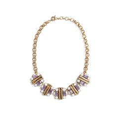 From spring to holiday, an enamel and rhinestone necklace is a versatile as it is pretty. Wear it to a wedding or pair it with a moto jacket for girls' night. Stitch Fix | Felix Gemstone & Bar Necklace