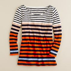 J Crew Colorblocked stripe tee - wish I'd bought when it cam out Jan'2012