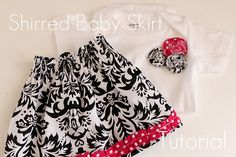 Cute shirred skirt tutorial, easy to scale up to larger sizes...she gives instructions on that as well.