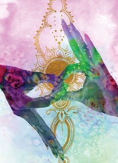 Meditation Art, Yoga Art, Namaste Art, Namaste Yoga, Gyan Mudra, Les Chakras, Chakra Art, Psychedelic Art, Art Inspo