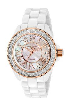 Swiss Legend Women's Karamica Diamond Luxury Watch by SWI Group on @HauteLook