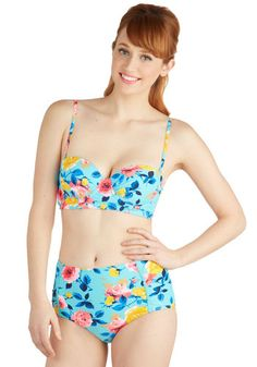 05c10d12079d4 Betsey Johnson Floating on Petals Swimsuit Top by Betsey Johnson - Knit