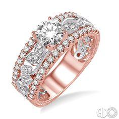 Beautiful #PinkGold and #WhiteGold #Diamond #EngagementRing! #DJBitzan