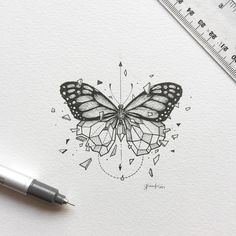 #Butterfly #Geometry Sketchy Stories: The Sketchbook Art of Kerby Rosanes, #Drawing #Moth Tattoo, Sketch, Animal - Photo by @blackworkillustrations - Follow #extremegentleman for more pics like this!