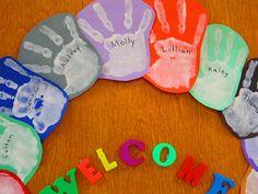 Handprint Happiness: Classroom Door Wreath