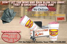Don't Let the Wind and Rain Blow You Away. That Is Smoothie King's Job.