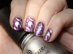 Konad M85 + China Glaze Gothic Lolita