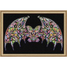 Happy Bat Counted Cross-Stitch Chart - Herrschners