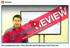 iPro Academy Review is the definitive course for getting unlimited and targeted website traffic from ALL the major players — All while slashing your ad costs by ONE HALF or more! https://www.youtube.com/watch?v=vrjhW9_lMMY
