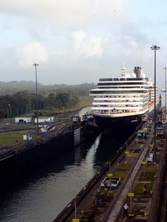 The Panama Canal cruise - there are only two feet of space between the ship's side and the lock's wall.