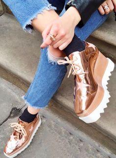 Stella McCartney -Elyse lace-up platform shoes   Megan Ellaby - pagesbymegan.com
