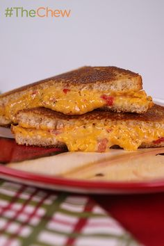Grilled Pimento Cheese Sandwich by Ruth Scott - Give your regular old grilled cheese some spice with this twist on the classic comfort food. #TheChew