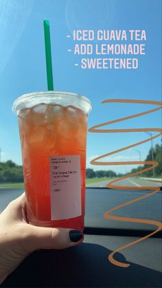 iced guava tea with lemonade, sweetened :)