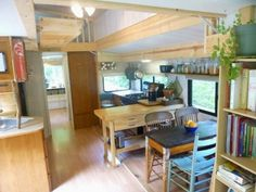 Clever conversion from trailer to tiny home.