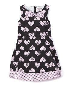 Black A-Line Dress - Infant Toddler & Girls