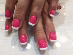 French Manicure In Pink And White