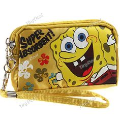SpongeBob Style Dual Layer Wallet Change Purse Coin Case Mini Hand Bag for Ladies - Assorted Pattern NBG-49159