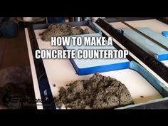 How to make a concrete countertop