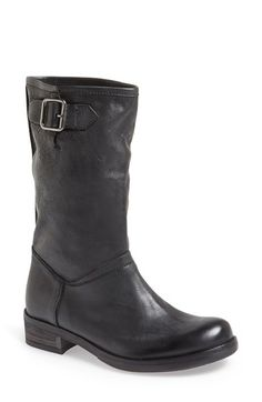 Free shipping and returns on KBR Pull On Leather Moto Boot (Women) at Nordstrom.com. Get revved up this fall in these on-trend moto boots fashioned from supple leather and featuring a buckled strap at the collar and cushioned heel.