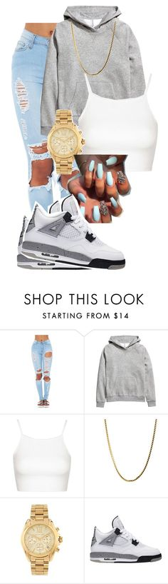 """""""sskkrrttt """" by iamkikk ❤ liked on Polyvore featuring H&M, Topshop and Michael Kors"""