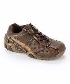 Look at this #zulilyfind! Stride Rite Brown Truman Leather Sneaker by Stride Rite #zulilyfinds